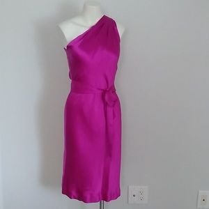 Banana Republic one shoulder fitted purple dress